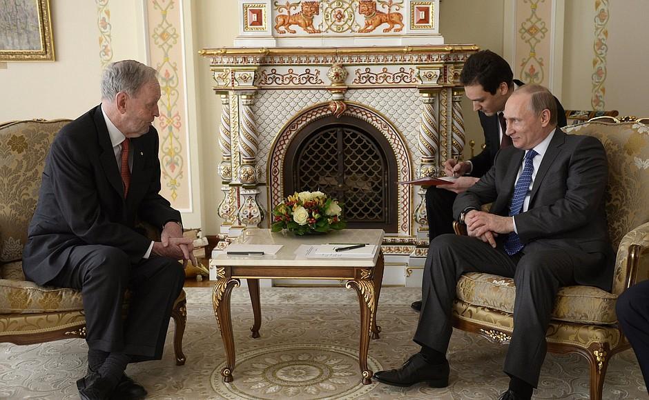 Владимир Путин и Жан Кретьен