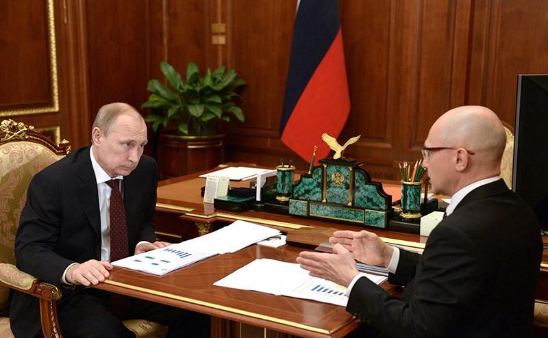Владимир Путин и глава Росатома Сергей Кириенко