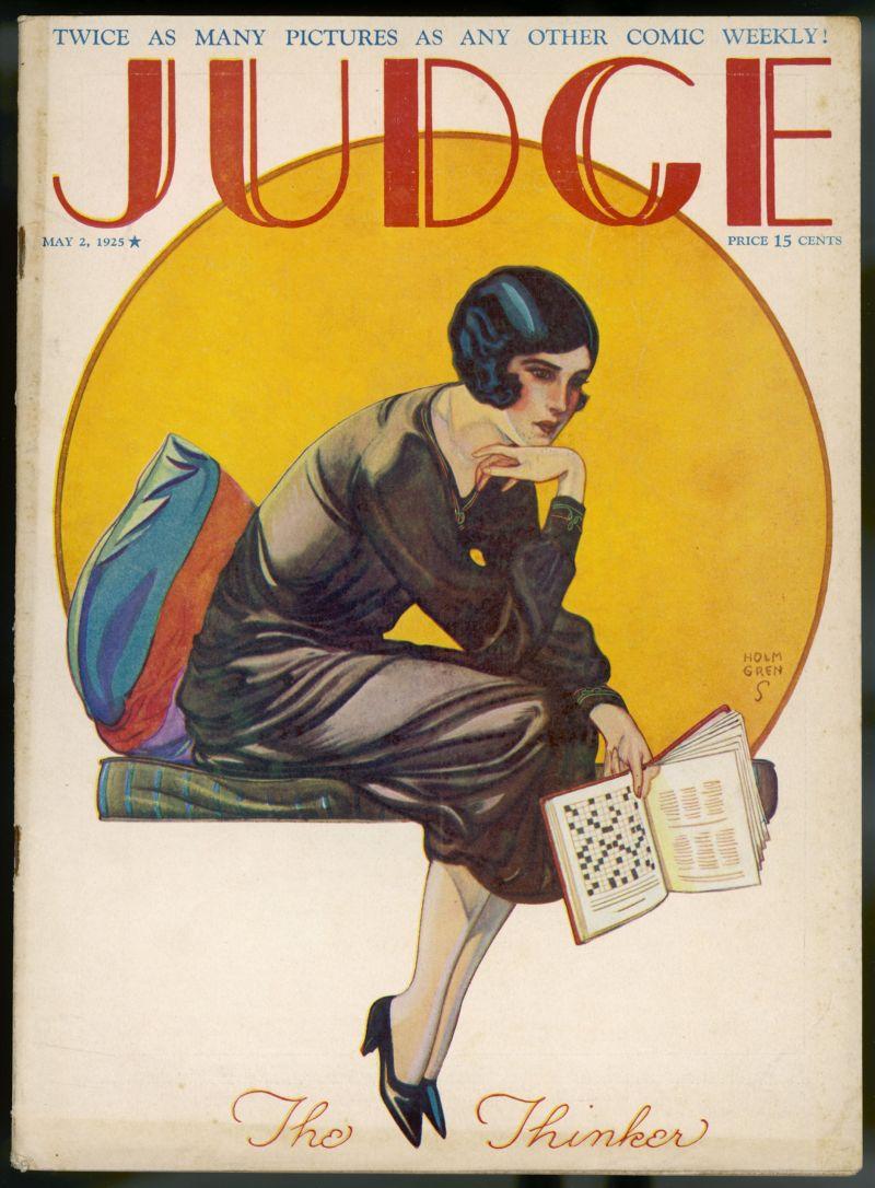 Обложка журнала с кроссвордом, 1925 год
