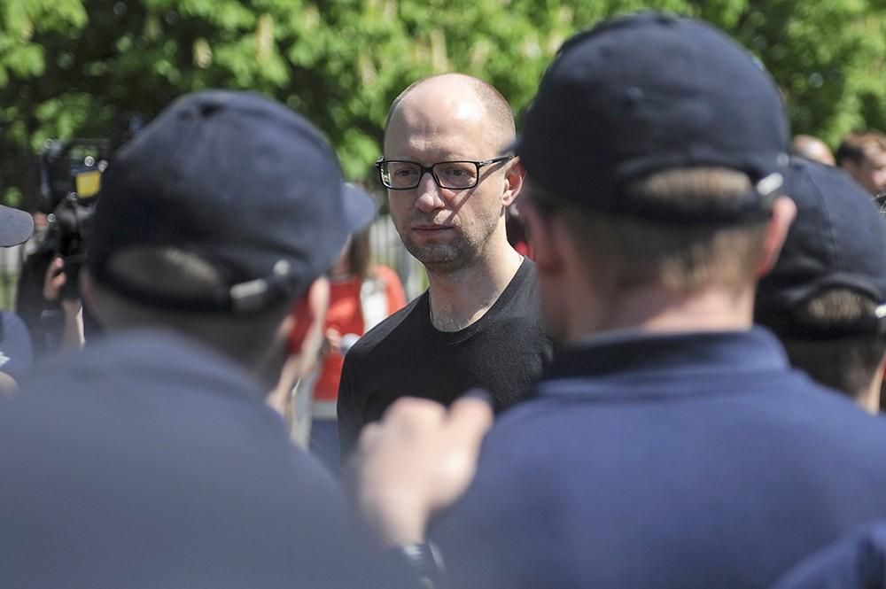 Арсений Яценюк встретился с кадетами Патрульной службы МВД Украины