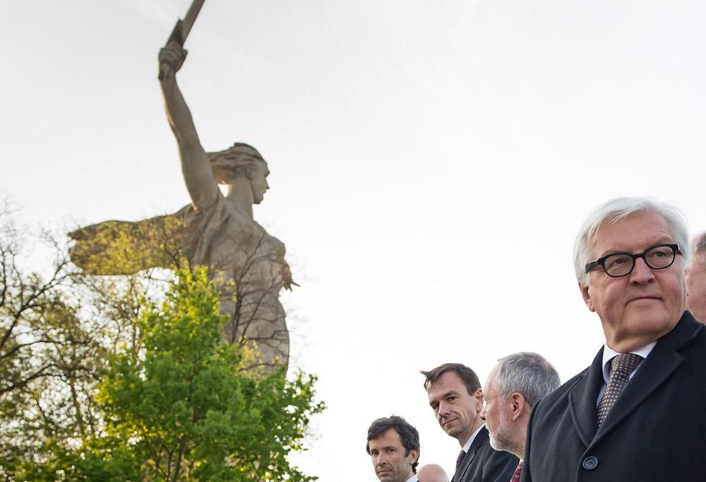 Глава МИД Германии Франк-Вальтер Штайнмайер в Волгограде