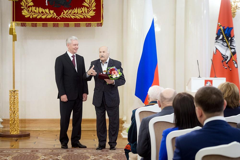 Сергей Собянин и Владимир Зельдин