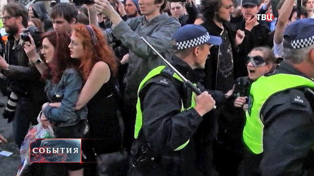 Уличные столкновения в Лондоне