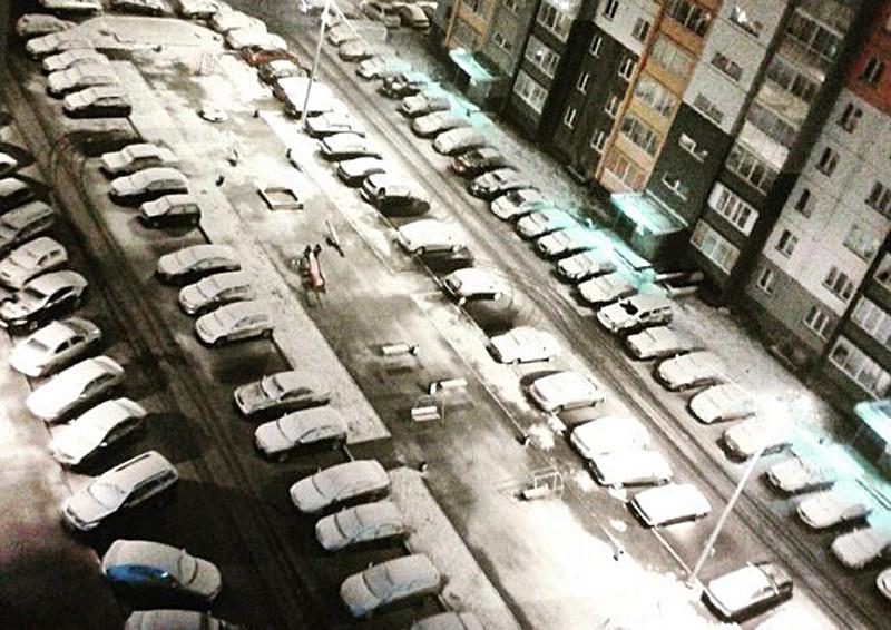 Снегопад в Челябинской области