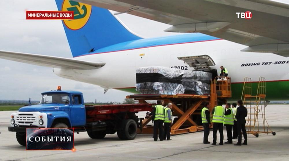 Самолет с гумпомощью из Китая