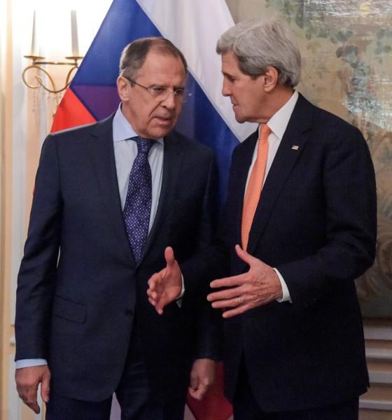 Министр иностранных дел России Сергей Лавров и государственный секретарь США Джон Керри