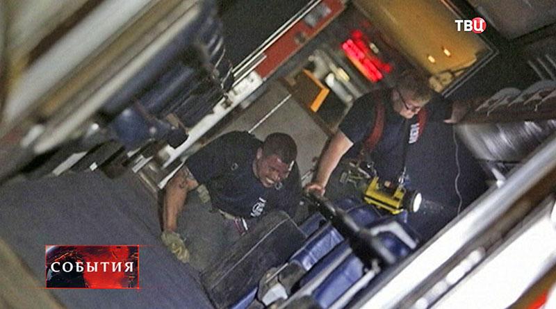 Крушение поезда в США