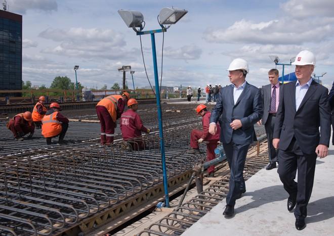 Сергей Собянин на реконструкции Рябиновой улицы