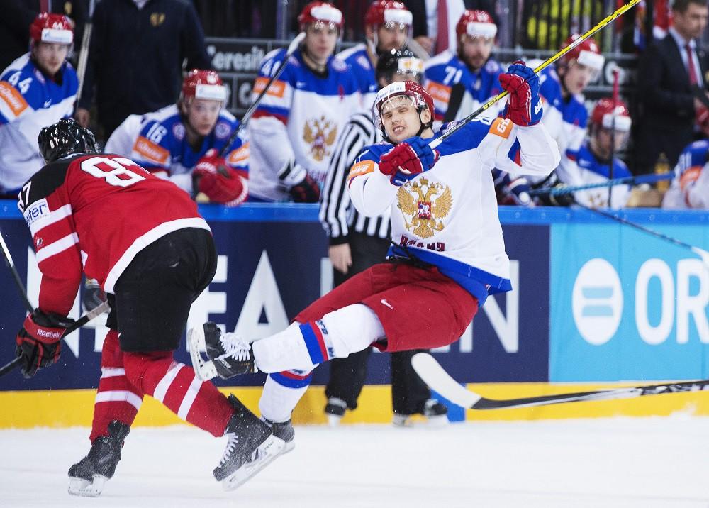 Сборные России и Канады на ЧМ по хоккею