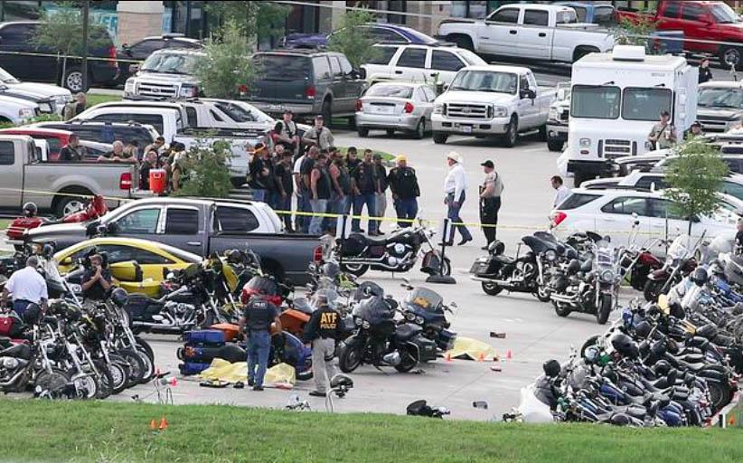 Техасские байкеры на месте происшествия