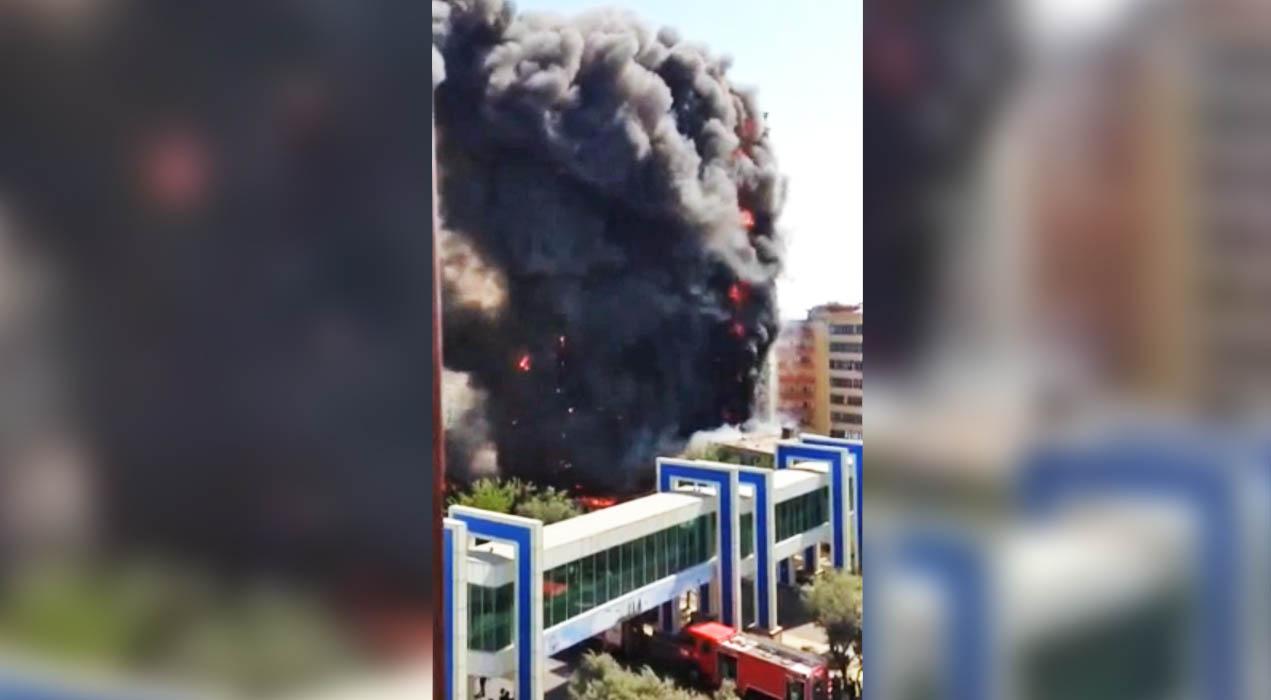 Пожар в жилом доме в Баку