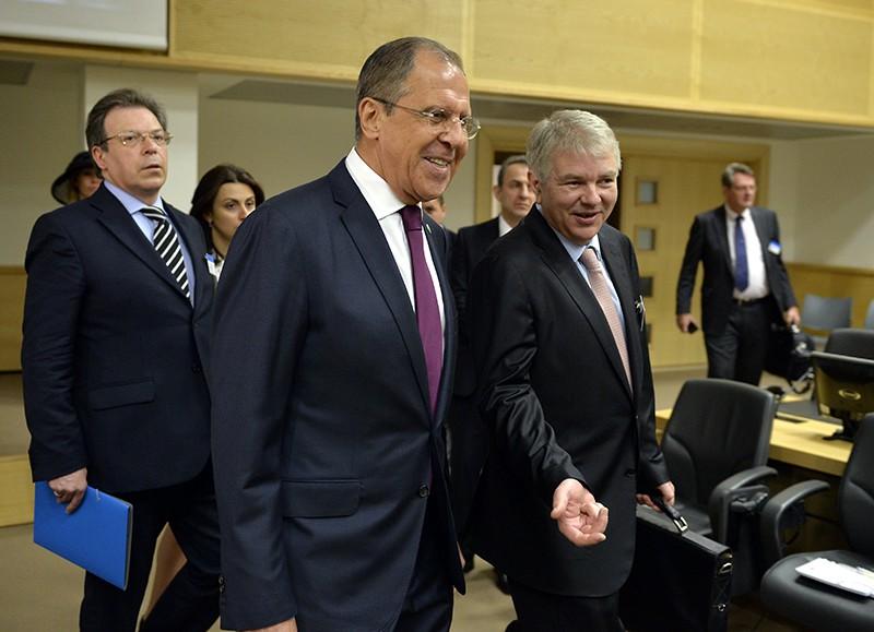 Глава МИД России Сергей Лавров на сессии комитета министров Совета Европы в Брюсселе