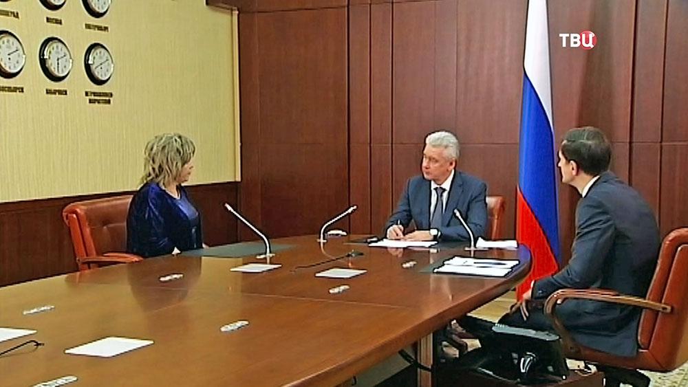 Мэр Москвы Сергей Собянин ведёт приём горожан