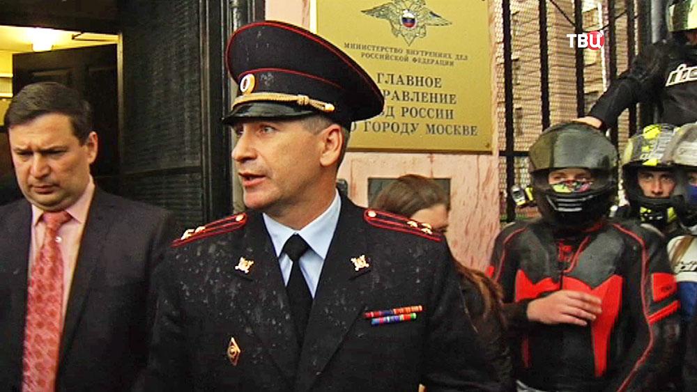 Московские Байкеры передали петицию по поводу ДТП на Кутузовском в ГУВД
