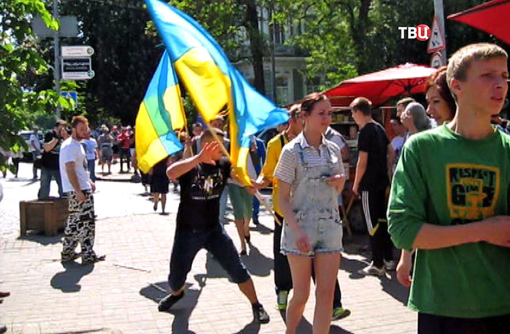 Радикалы препятствуют митингу Закарпатских русин