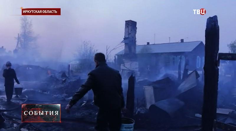 Лесные пожары в Иркутской области