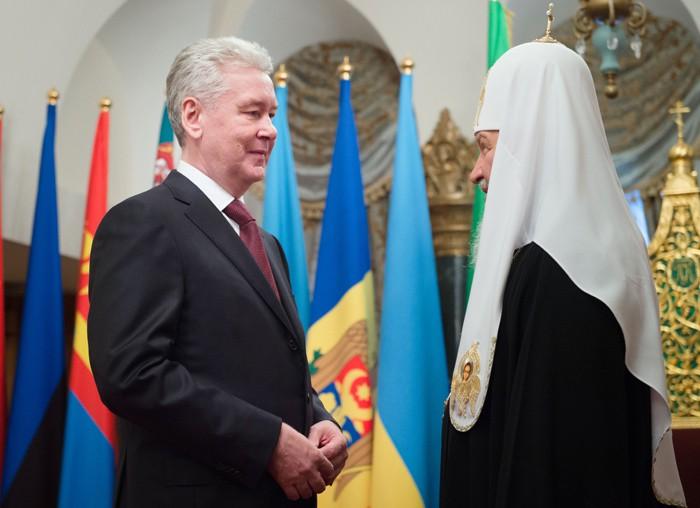 Собянин поздравил Патриарха Кирилла с днем тезоименитства