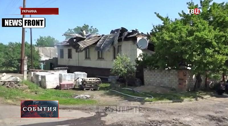 Результат артобстрела на Украине