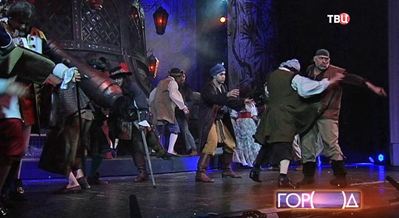 """Репетиция спектакля """"остров сокровищ"""""""
