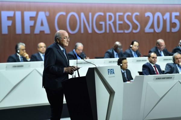 Президент ФИФА Йозеф Блаттер во время выборов президента ФИФА