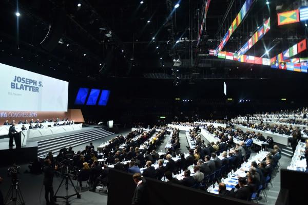 Голосование во время выборов президента ФИФА