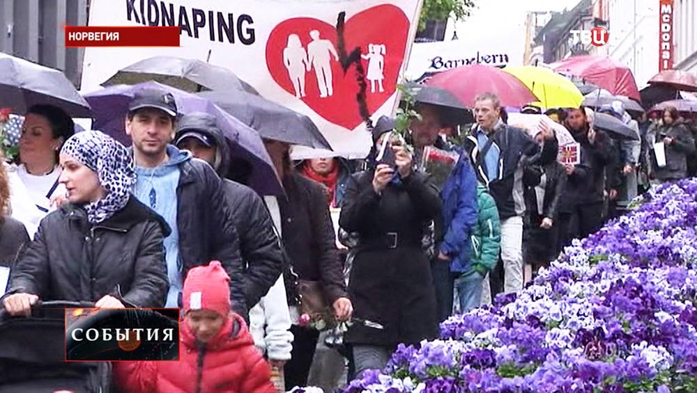 Протестующие в Норвегии