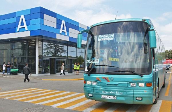 """Автобус у терминала аэропорта """"Симферополь"""""""