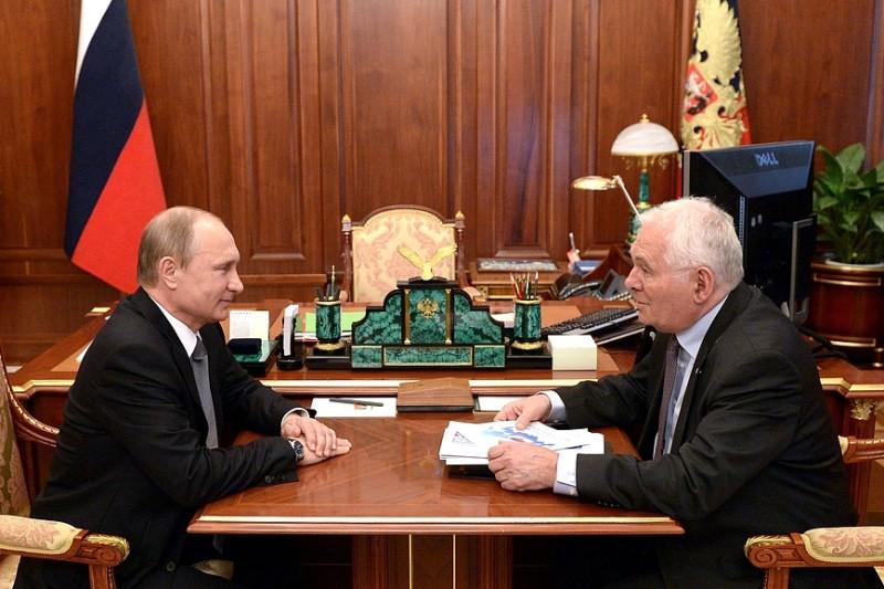 Владимир Путин и Леонид Рошаль