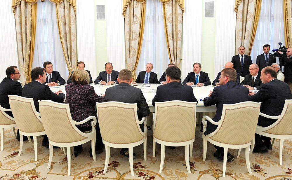 Владимир Путин встретился с Председателем Правительства Словакии Робертом Фицо