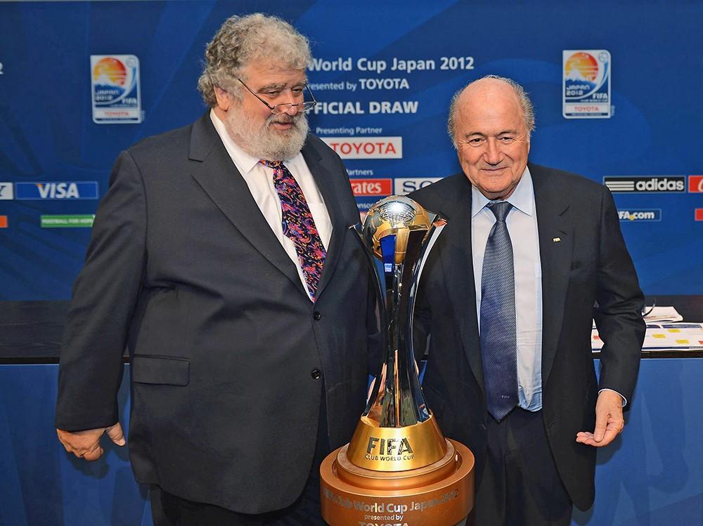 Бывший вице-президент ФИФА Чак Блейзер иэкс-президент ФИФА Йозеф Блаттер