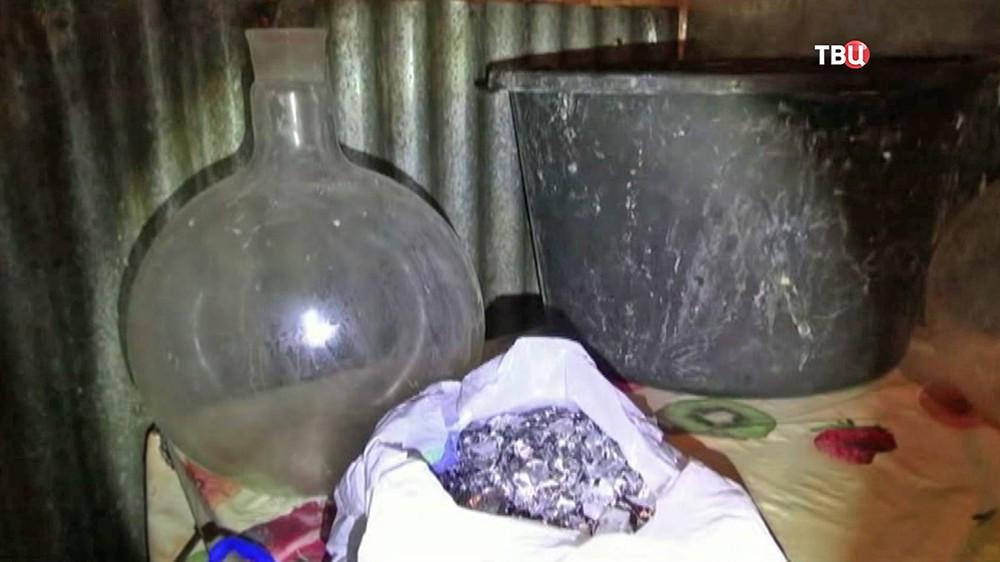 Подпольная нарколаборатория
