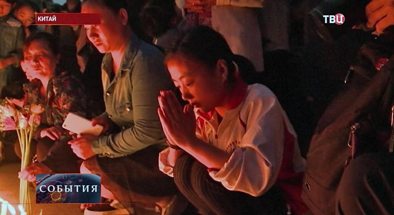 Родственники погибших крушения теплохода в Китае