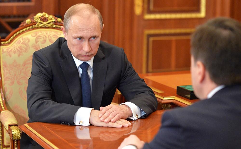 Президент России Владимир Путин и губернатор Московской области Андрей Воробьёв