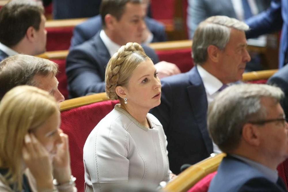 Юлия Тимошенко на заседании Верховной Рады Украины