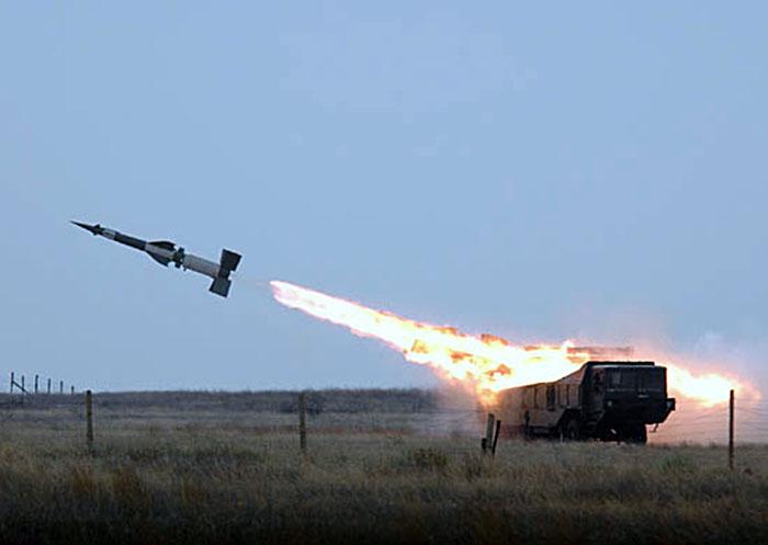 Пуск ракетного комплекса российской армии