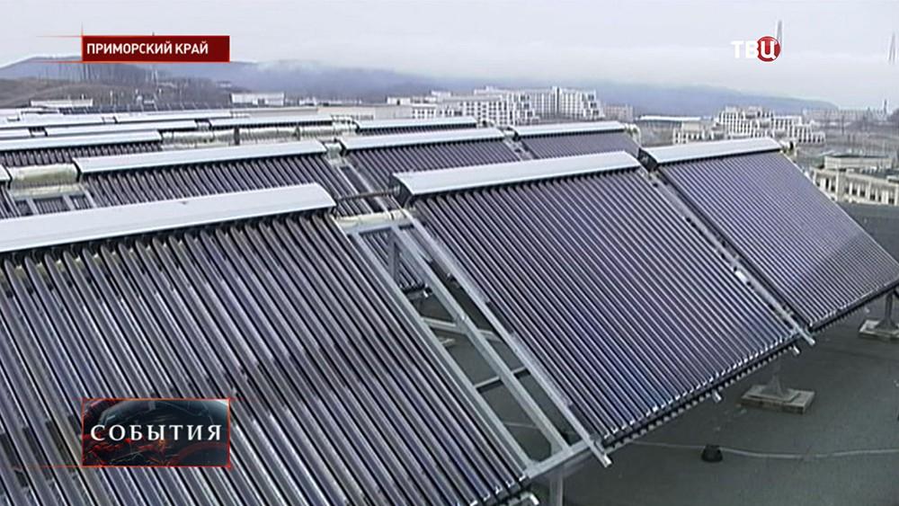 Солнечные батареи в Приморье