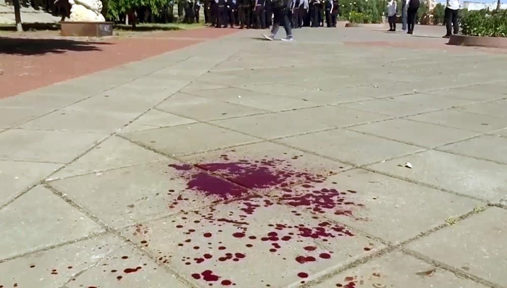 Место столкновения украинской милиции и радикалов