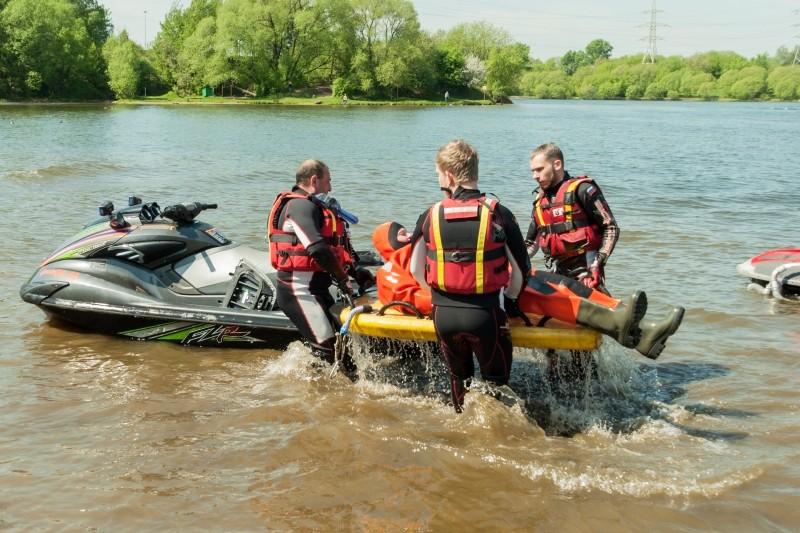 Учение спасателей МЧС