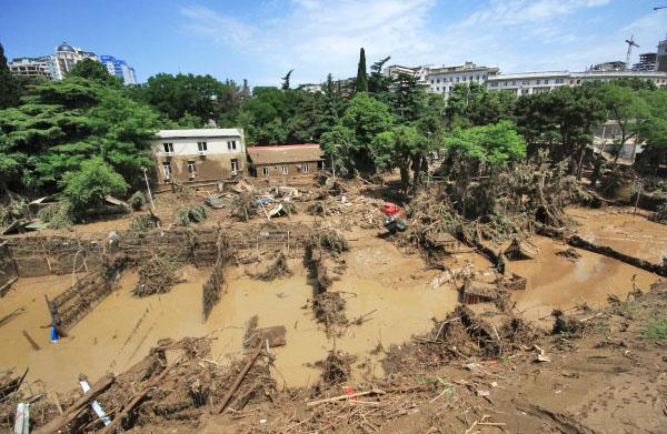 Зоопарк Тбилиси разрушенный наводнением