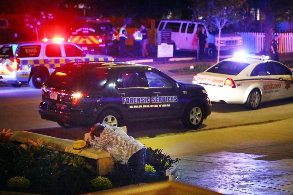 Полиция США на месте стрельбы у церкви города Чарлстон