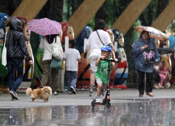 Дождливая погода в Москве