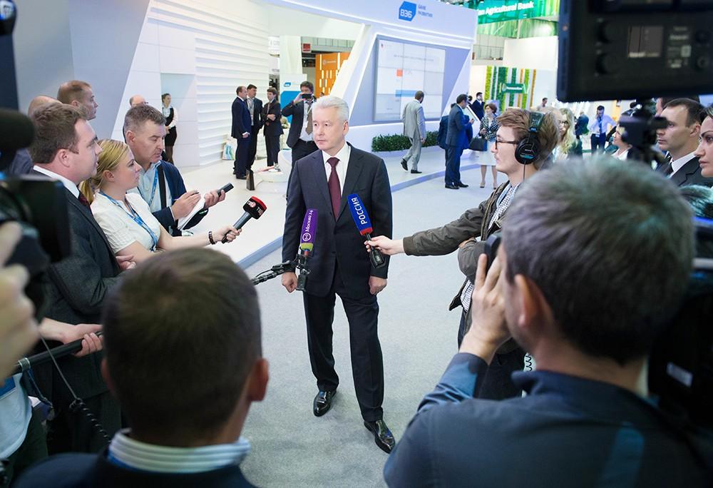 Сергей Собянин на Петербургском экономическом форуме