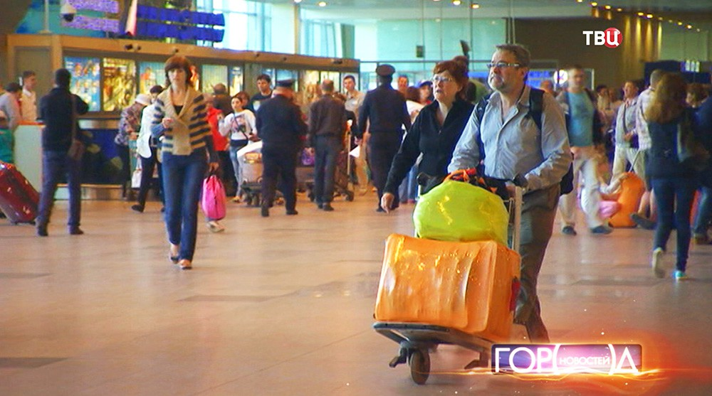 Пассажиры на Белорусском вокзале