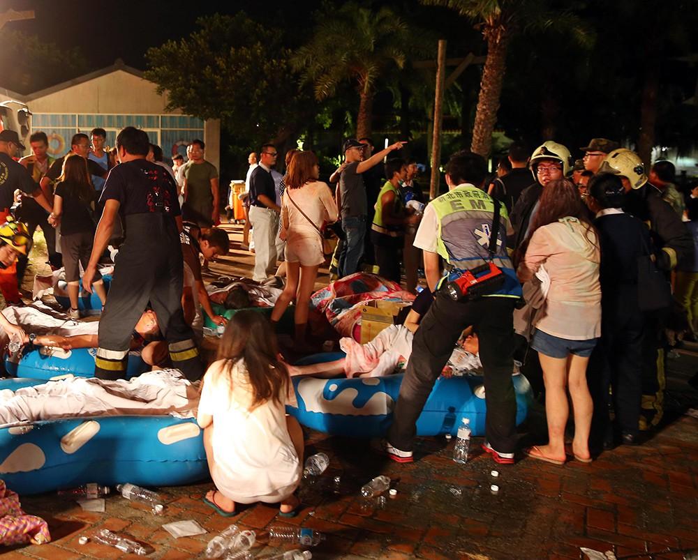 Пострадавшие от взрыва в Тайване
