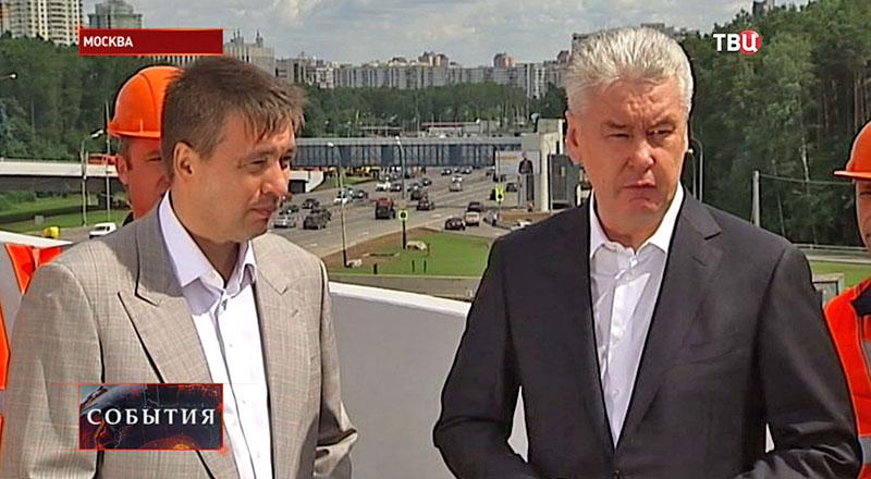 Сергей Собянин на открытии новой эстакады