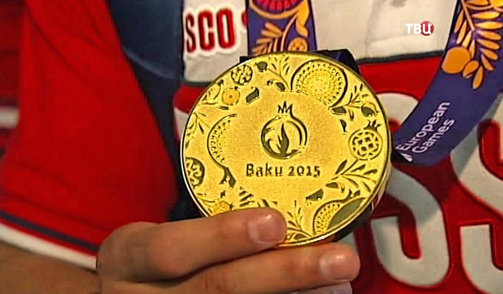 Золотая медаль Европейских игр в Баку