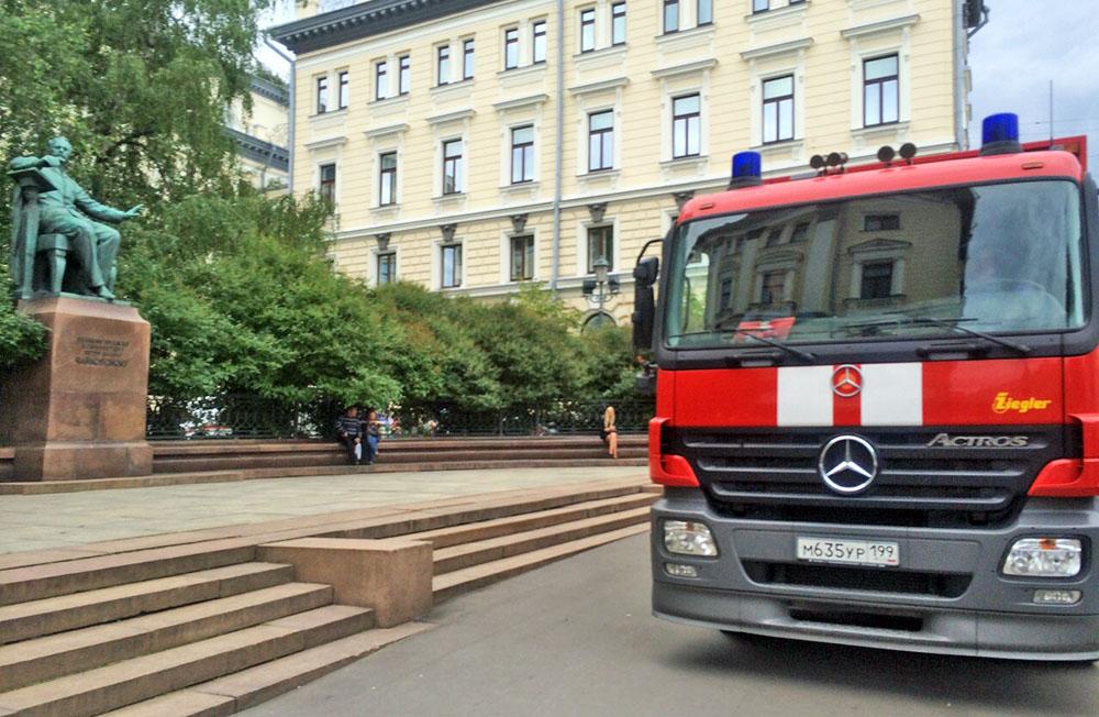 Последствия пожара в Московской консерватории имени Чайковского