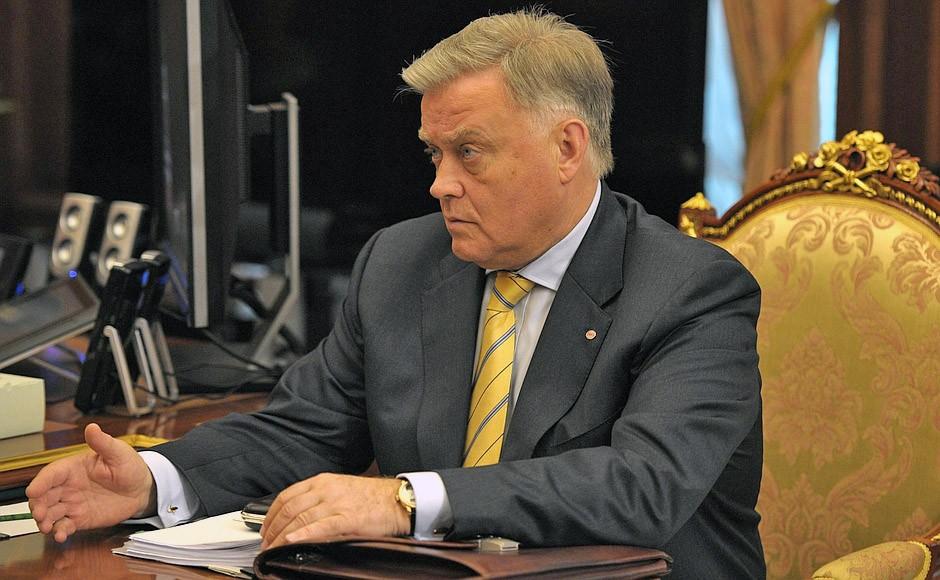 Глава РЖД Владимир Якунин