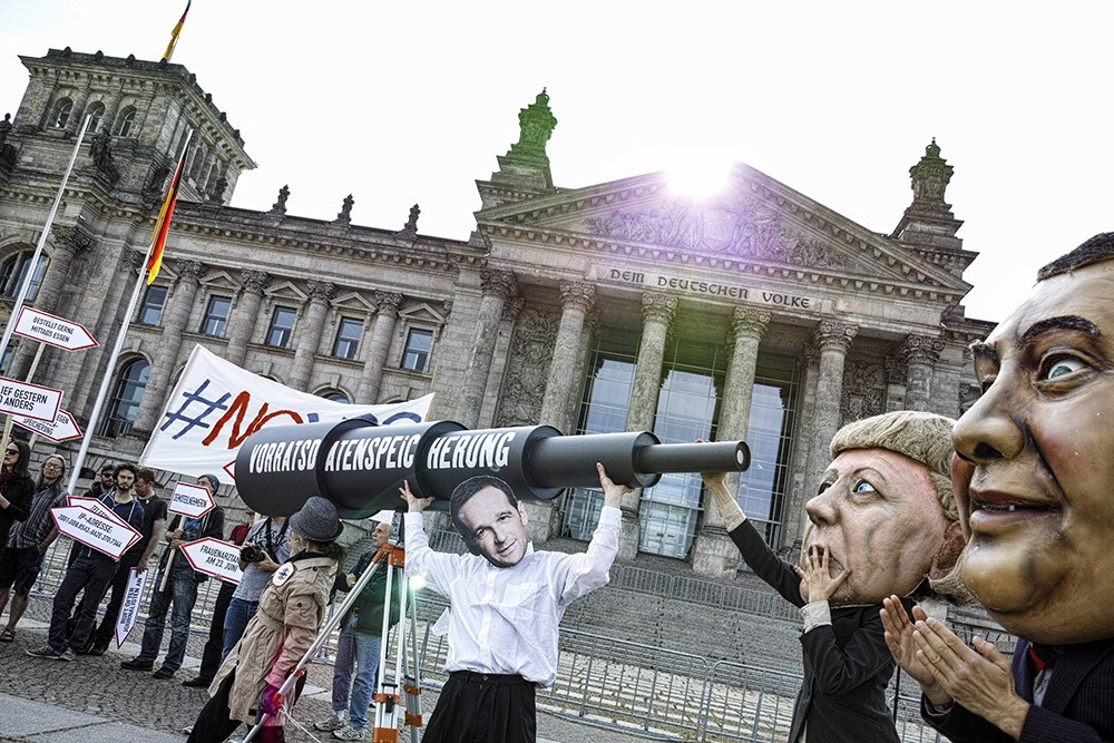 Митинг у здания Бундестага