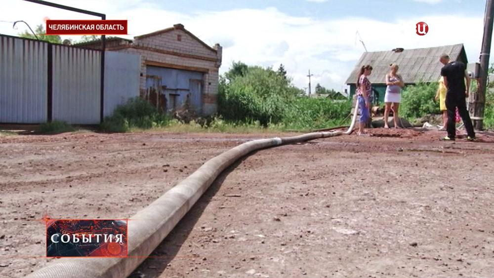 Потоп в посёлке в Челябинской области